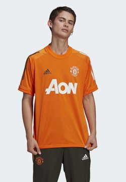 adidas Performance - MANCHESTER UNITED AEROREADY FOOTBALL JERSEY - Klubtrøjer - orange