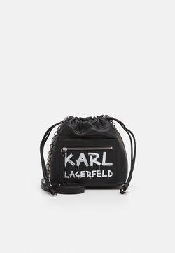 KARL LAGERFELD - SOHO GRAFFITI SMALL - Umhängetasche - black