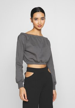 Nly by Nelly - OFF SHOULDER - Sweatshirt - off black