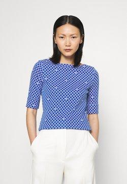 Lauren Ralph Lauren - JUDY ELBOW SLEEVE - T-Shirt print - sapphire star/white