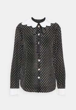 Sister Jane - DOUBLE LOOP BOW SHIRT - Bluse - black