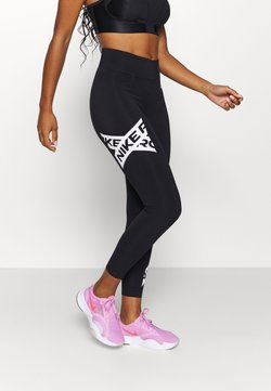Nike Performance - 7/8 TROMPE  - Tights - black/white