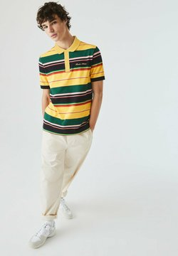 Lacoste LIVE - Poloshirt - jaune / blanc