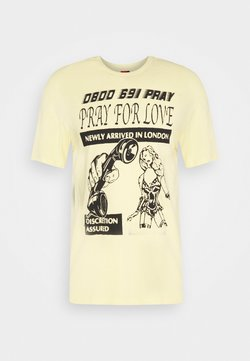 PRAY - BRASS UNISEX - T-shirt print - yellow