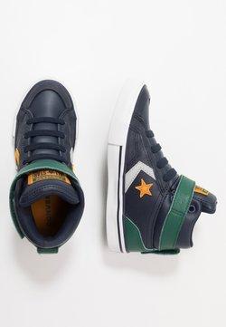 Converse - PRO BLAZE STRAP - Sneakers hoog - obsidian/midnight clover/saffron yellow