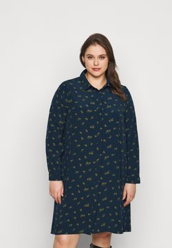 Glamorous Curve - HEART PRINT DRESS - Skjortekjole - olive