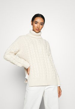 NA-KD - BIG NECK CABLE - Strickpullover - off white