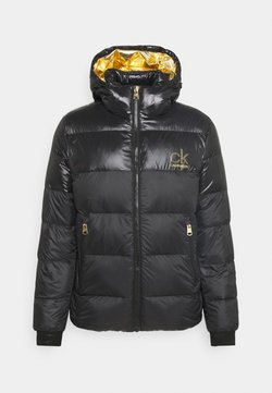 Calvin Klein - LOGO PUFFER JACKET - Daunenjacke - black