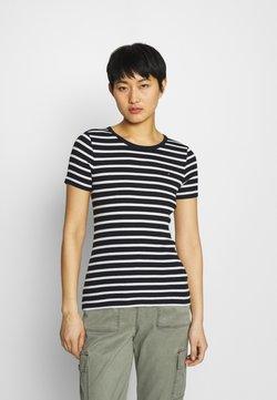 Tommy Hilfiger - SKINNY OPEN - T-Shirt print - desert sky/white