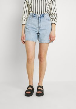 Monki - EMMA  - Szorty jeansowe - blue dusty light/light blue
