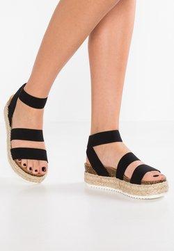 Steve Madden - KIMMIE - Korkeakorkoiset sandaalit - black