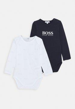 BOSS Kidswear - BABY 2 PACK UNISEX - Body - navy/white