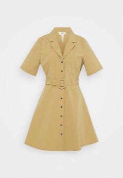 Object - OBJFRIGG DRESS A FAIR - Vestido camisero - sandshell