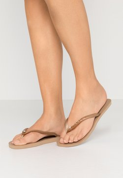 Havaianas - SLIM FIT CRYSTAL GLAMOUR - Teenslippers - metallic rose gold
