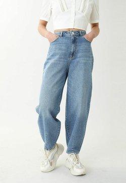 Pimkie - SLOUCHY HIGH WAIST - Relaxed fit -farkut - denimblau