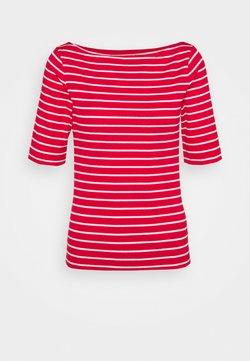 GAP Petite - BOATNECK - T-Shirt print - red white