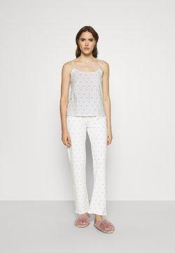 Pieces - PCAMIRA NIGHT - Pyjama - white/blue