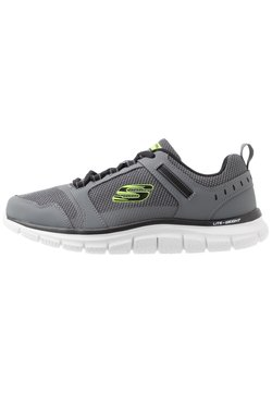Skechers Sport - TRACK - Sneaker low - charcoal/black