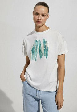 Massimo Dutti - Print T-shirt - green