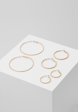 ONLY - ONLHELLE 3 PACK CREOL EARRINGS - Ohrringe - gold-coloured