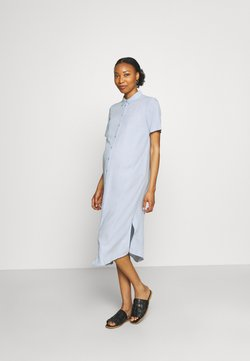 Pieces Maternity - PCMCAMILA SHIRT DRESS - Robe chemise - kentucky blue