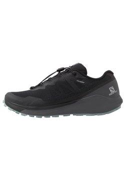 Salomon - SENSE RIDE 3 - Zapatillas de trail running - black/ebony/lead