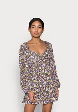 Missguided Petite - MILKMAID SKATER DRESS  - Freizeitkleid - purple