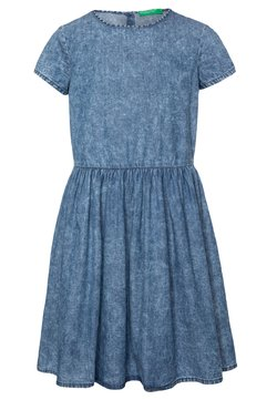 Benetton - DRESS - Jeanskleid - blue denim