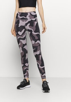 Under Armour - RUSH CAMO LEGGING - Tights - slate purple