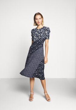 MICHAEL Michael Kors - FLORAL MIX DRESS - Sukienka z dżerseju - chambray