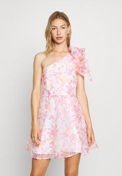 Monki - CAMILLE DRESS - Vestido de cóctel - white/pink