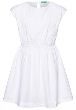 Benetton - DRESS - Freizeitkleid - white