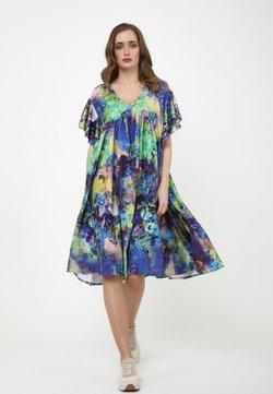 Madam-T - Freizeitkleid - kornblume blau  lila