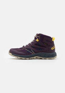 Jack Wolfskin - WOODLAND TEXAPORE MID UNISEX - Outdoorschoenen - purple/yellow