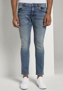 TOM TAILOR - Jeans Slim Fit - mid stone bright blue denim