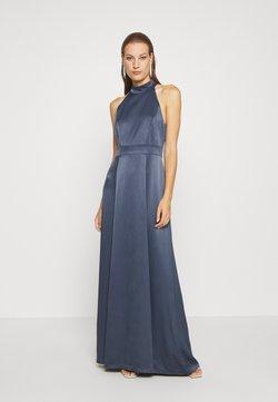 IVY & OAK - LONG NECKHOLDER DRESS - Ballkleid - graphit blue