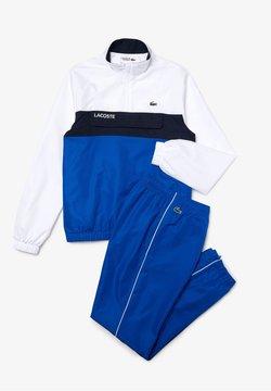 Lacoste Sport - TRACKSUIT - Trainingsanzug - weiß / blau / navy blau