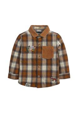 Next - CHECK BADGE  - Koszula - brown