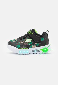 Skechers - FLEX GLOW - Sneaker low - black/lime