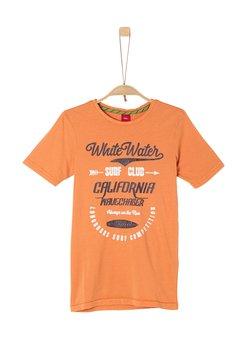 s.Oliver - T-shirt print - light orange