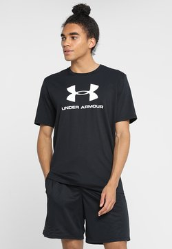 Under Armour - T-Shirt print - black/white