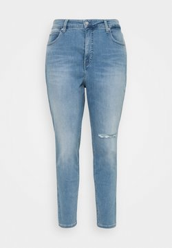 Calvin Klein Jeans Plus - HIGH RISE SKINNY ANKLE - Jeans Skinny Fit - denim light