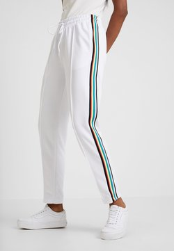 Urban Classics - DAMEN LADIES SIDE TAPED TRACK PANTS - Jogginghose - white