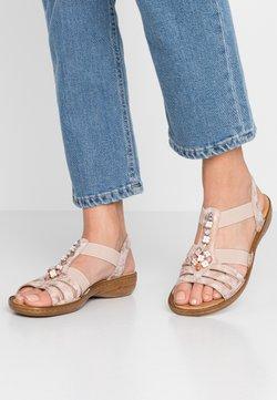 Rieker - Sandaalit nilkkaremmillä - rosa