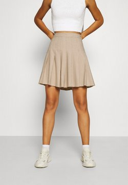Monki - TINDRA SKIRT - Faltenrock - beige medium dusty