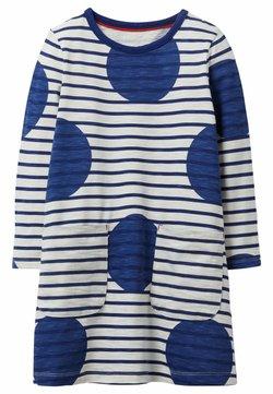 Boden - Jerseykleid - segelblau, getupft