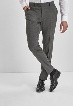 Next - BLUE SKINNY FIT STRETCH MARL SUIT TROUSERS - Anzughose - grey