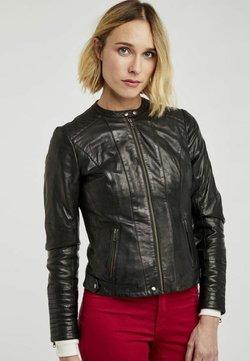 NAF NAF - MENL - Veste en cuir - black