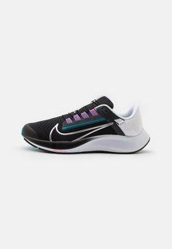 Nike Performance - AIR ZOOM PEGASUS 38 FLYEASE - Neutrala löparskor - black/metallic silver/white/chlorine blue/anthracite/flash crimson