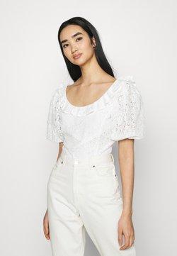 Fashion Union - HOLMES - Print T-shirt - white